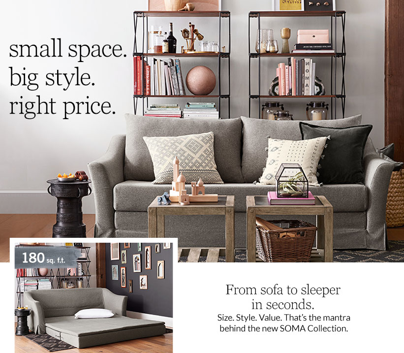 small space. big style. right price.