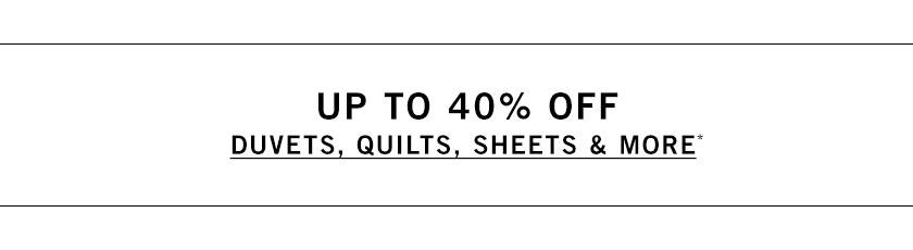 Duvets, Quilts, Sheets & More Sale