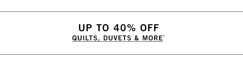 Quilts, Duvets & More Sale