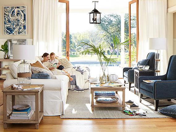 Pb Comfort Sausalito Living Room Pottery Barn