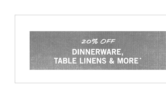 Dinnerware, Glassware & More Sale