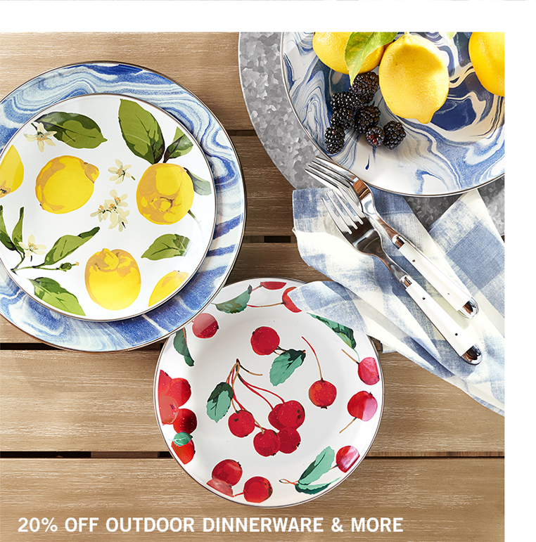 Outdoor Dinnerware & More Sale
