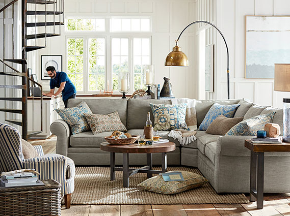 pottery barn living room images pearce griffin living room pottery barn 18339